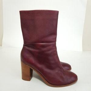 Splendid size 7.5 leather oxblood boots